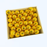 Box of emotion icons Stock Images