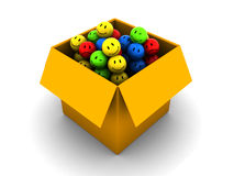 Box with emotions Royalty Free Stock Photo