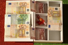 Box with euro Stock Image