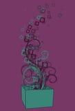 box exploderande fyrkantswirls Arkivbild