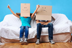 Box face couple Stock Photo