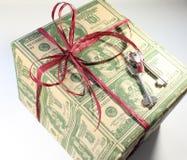 Box. family gift Royalty Free Stock Photos