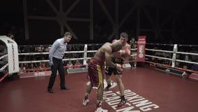 Box Fight 4K. 12 sec Box Fight 4K rnBox fight round stock footage