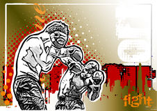 Box Fighters poster background Stock Images