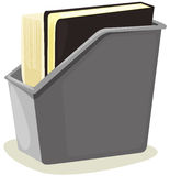 Box of files. An  illustration of isolated box of files on white background Royalty Free Stock Photos