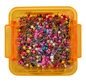 Colorful sewing pins Royalty Free Stock Photos