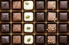 Box of the finest chocolate Stock Images