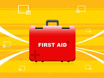 Box with first aid. On abstract background stock illustration