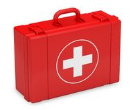 Box first aid kit care 3D illustration. Kit emergency Royalty Free Stock Photography