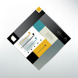 Box flat diagram for info graphics. Royalty Free Stock Image