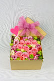Box of flowers Stock Photo