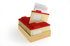 Box with folders Royalty Free Stock Image