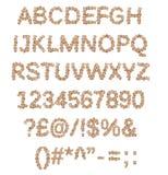 Box font alphabet Royalty Free Stock Images
