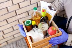 Donations, food delivery