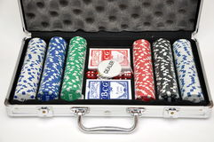 Box For A Gambling Chips Royalty Free Stock Photo