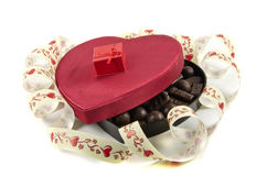 Box in the form of heart with candy Royalty Free Stock Image