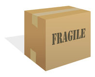 Box fragile. Cartoon vector illustration of a box fragile stock illustration