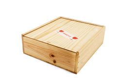 Box with fragile content Royalty Free Stock Image
