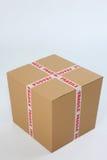Box with fragile sign Stock Photos