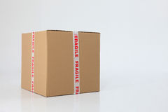 Box with fragile sign Stock Photo