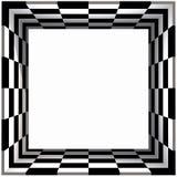 Box Frame Checker Board. 3D Box Frame Checker Board Pattern Royalty Free Stock Photos