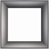 Box Frame Smooth Cardboard. 3D Box Frame Smooth Cardboard Pattern Stock Photography