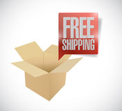 Box and free shipping speech bubble illustration Royalty Free Stock Photography