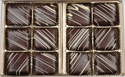 Box of French Chocolate Candy Royalty Free Stock Images