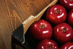 Box of fresh apples Royalty Free Stock Photo