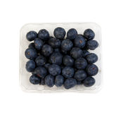 Box of fresh Blueberries Royalty Free Stock Image