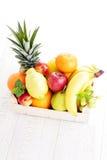 Box of fresh fruits Royalty Free Stock Photography