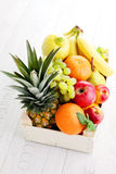 Box of fresh fruits Stock Image