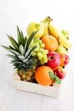 Box of fresh fruits Stock Image