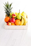 Box of fresh fruits Royalty Free Stock Photography