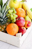 Box of fresh fruits Royalty Free Stock Photo
