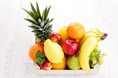 Box of fresh fruits Royalty Free Stock Image