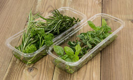 Box with fresh Herbs Royalty Free Stock Photo