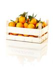 Box of fresh oranges Royalty Free Stock Photography