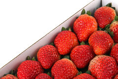 Box of fresh tasty strawberries Stock Photo
