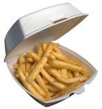 Box of fries royalty free stock photo