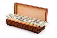 Box full of american dollars Stock Image