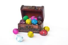 Box Full of Chocolate Eggs - Stock Image Royalty Free Stock Photo