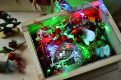 A box full of Christmas Royalty Free Stock Photography