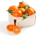 Box full of clementines. Stock Photography