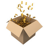 Box full of dollars Royalty Free Stock Photo