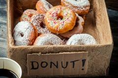 Box full of donuts ready to eat Royalty Free Stock Photos