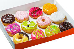 Box full of doughnuts Royalty Free Stock Photography