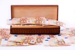 Box full of european money Stock Image