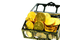 Box full with gold euro money Stock Images