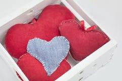 Box full of hearts Stock Photography